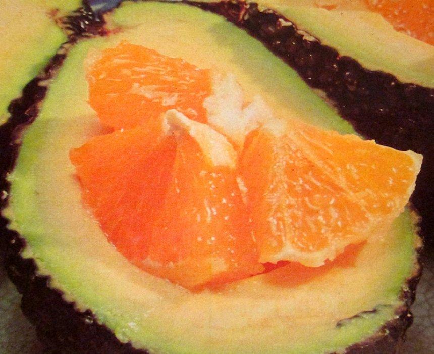 Aguacate a la naranja