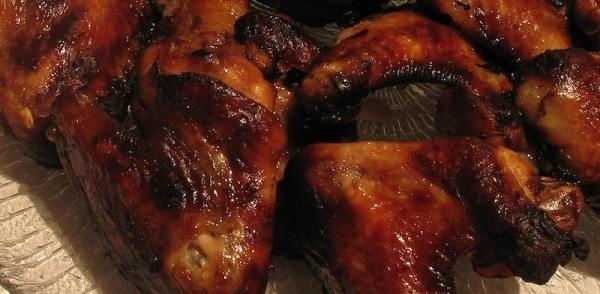 Alas de pollo en adobo al horno