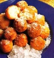 Albóndigas de arroz dulce