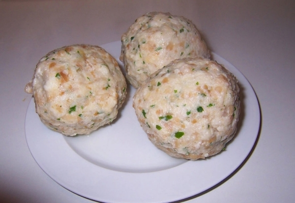 Albóndigas de pan en microondas