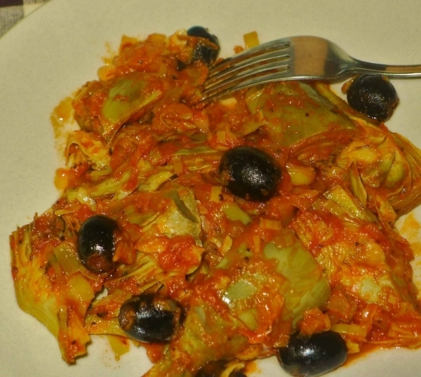 Alcachofas a la italiana