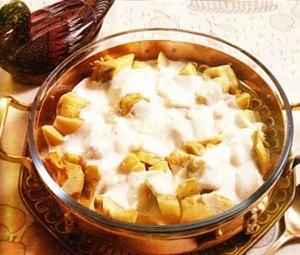 Alcachofas con salsa de queso