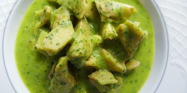 Alcachofas en salsa verde