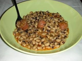 Alubias carillas con arroz y chorizo