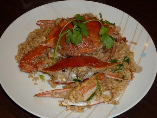 Arroz con cangrejos de mar