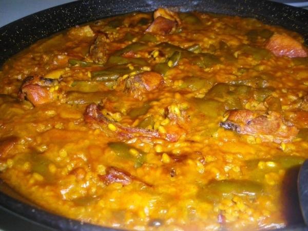 Arroz con jud as verdes y costilla ib rica the cook monkeys - Tiempo coccion judias verdes ...
