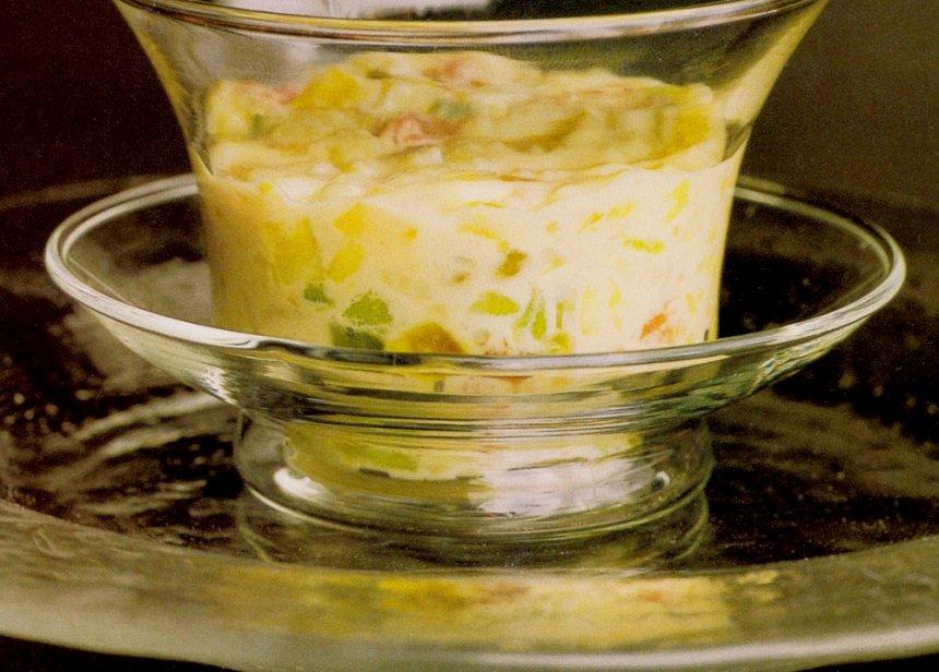 Arroz con leche y frutas frescas y confitadas