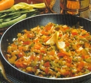 Arroz con macedonia de verduras