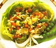 Arroz con verduras con parmesano