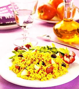 Arroz integral al curry