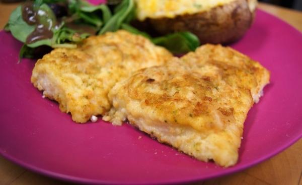 Bacalao con costra de queso