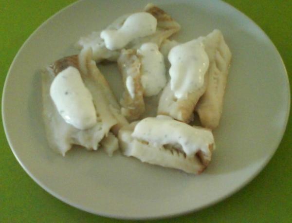 Bacalao con salsa tártara