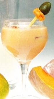 Batido de zanahoria, mango, calabaza y leche