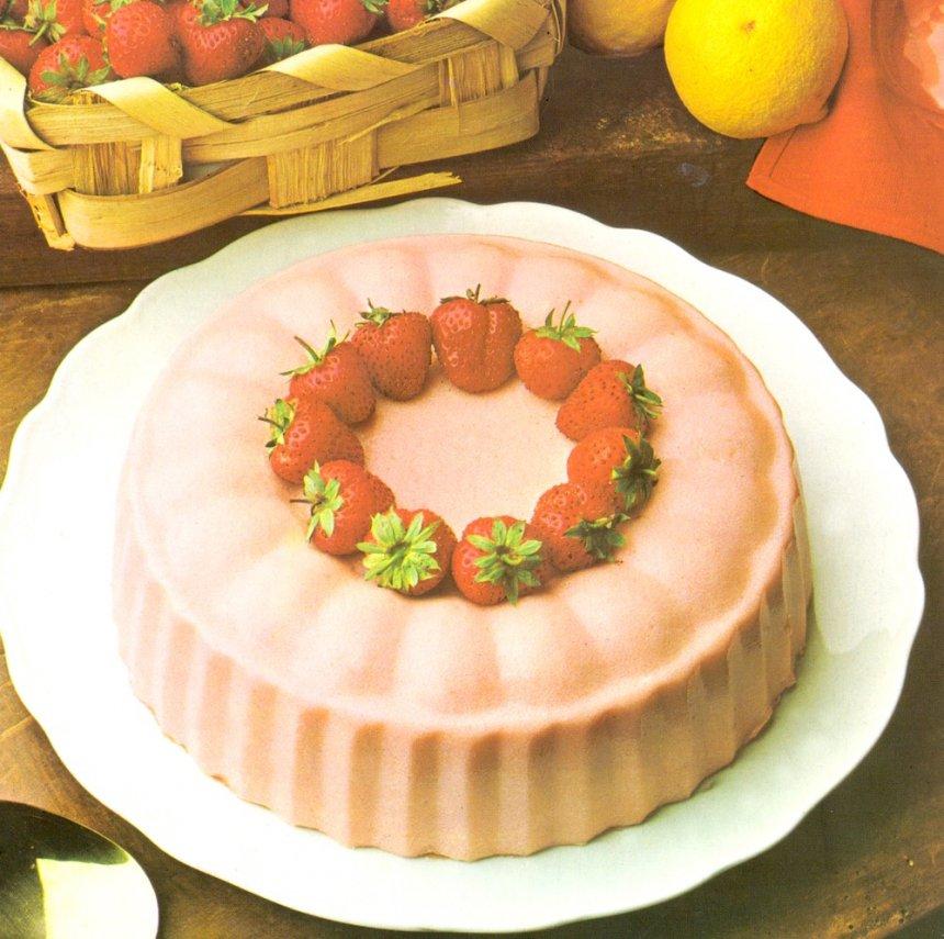 Bavaroise con fresas