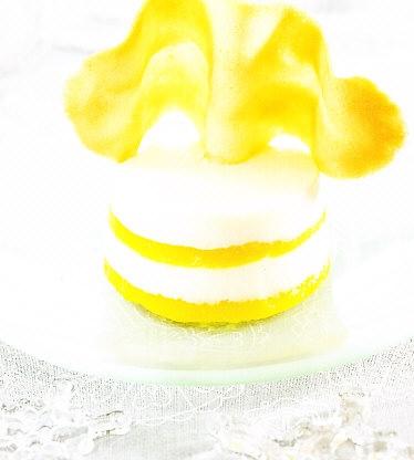 Bávaros de mango y requesón