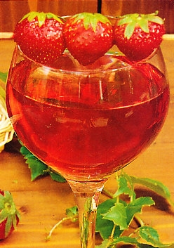 Bebida refrescante de fresas