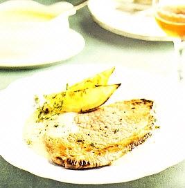 Bistec con salsa de limón