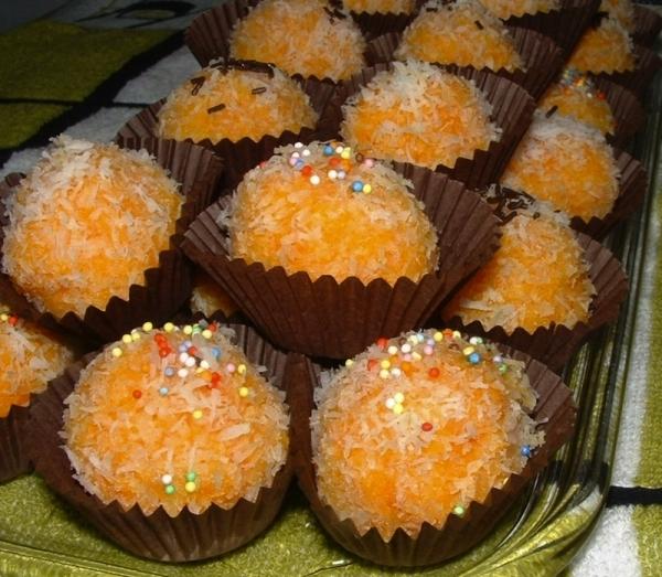 Bombones de zanahoria y coco