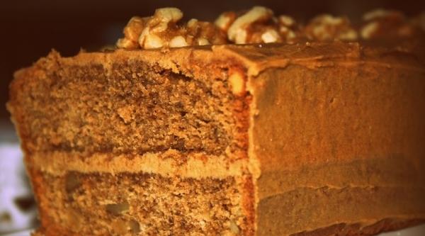 Cake de cafe y nueces en microondas