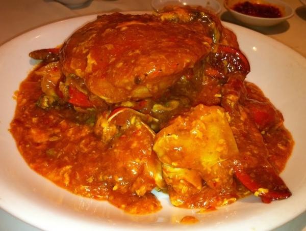 Buey de mar en salsa picante