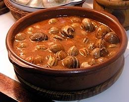 Caracoles al estilo de Tarragona