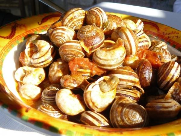 Caracoles con jamón