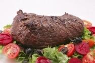 Carne asada con hortalizas