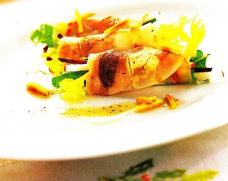 Carne fría de cocido con ensalada