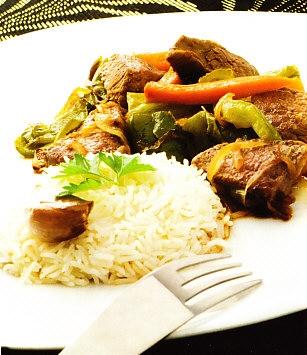 Carne salteada con verduras