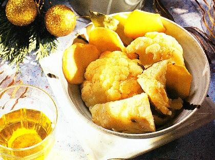 Cazuela de coliflor y bacalao