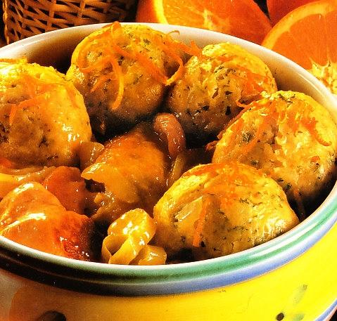 Cazuela de pollo a la naranja