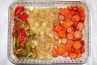 Cebollitas y zanahorias caramelizadas