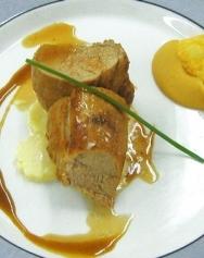 Cerdo asado en salsa de miel