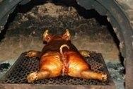 Cerdo mamón asado