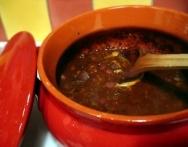 Chile con carne de buey