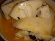 Chirimoyas a la naranja
