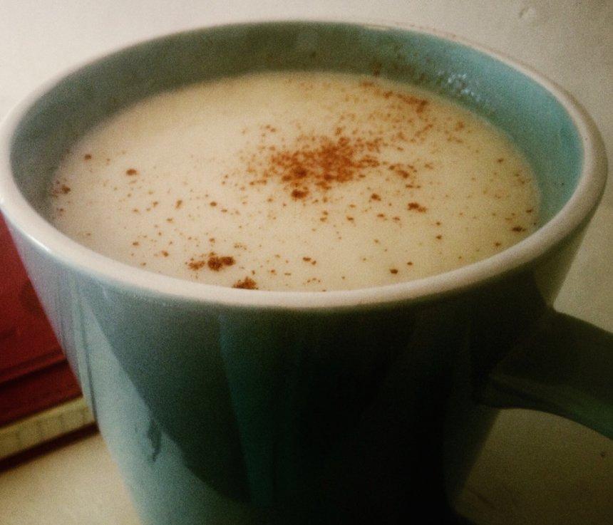 Chocolate blanco vegano caliente