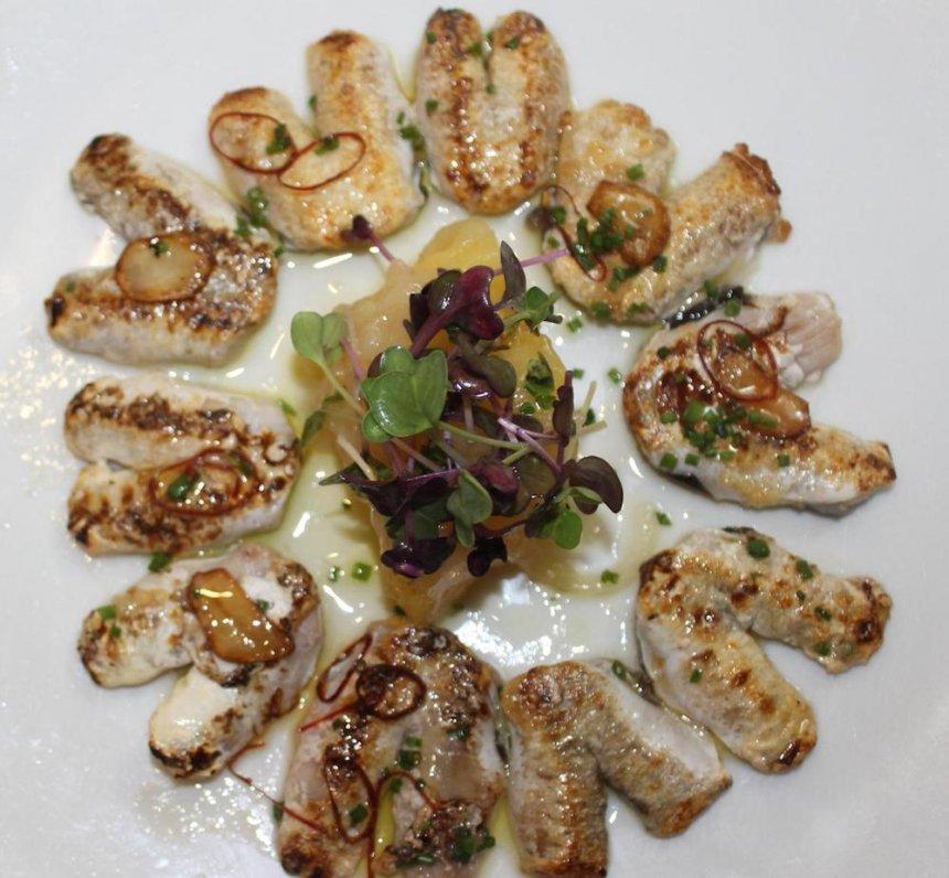 Cocochas de merluza a la brasa