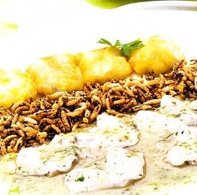 Cocochas dos gustos y arroz frito