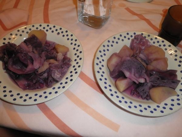 Col lombarda con patatas
