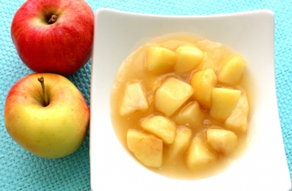 Compota de manzana y naranja