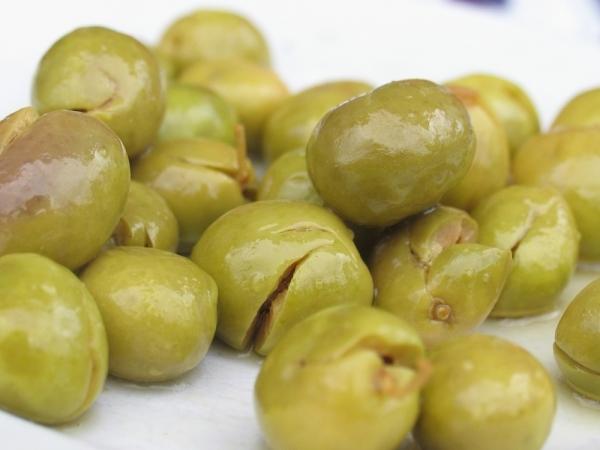 Conserva de aceitunas verdes