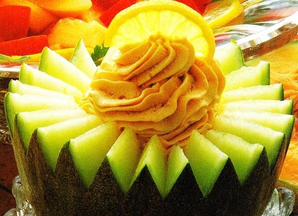 Copa de melón con atún