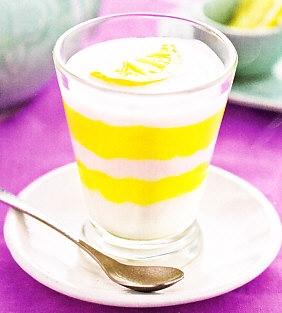 Copa de yogur y limón