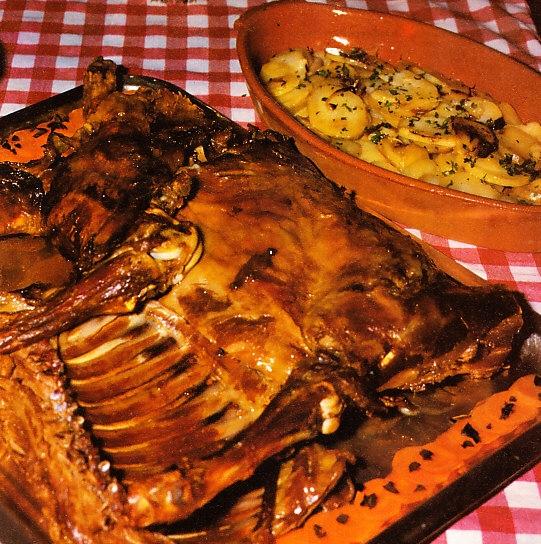 Cordero asado al estilo de Castilla-León
