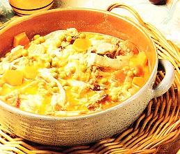 Cordero lechal con hortalizas