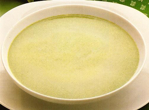 Crema de espinacas con huevo