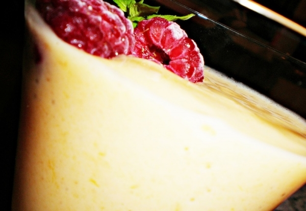 Crema de palo santo con yogur