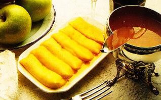 Crêpes con salsa de mermelada