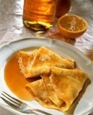 Crêpes de mantequilla de naranja